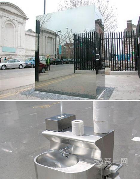外面看不到裡面,裡面看得到外面的英國公廁