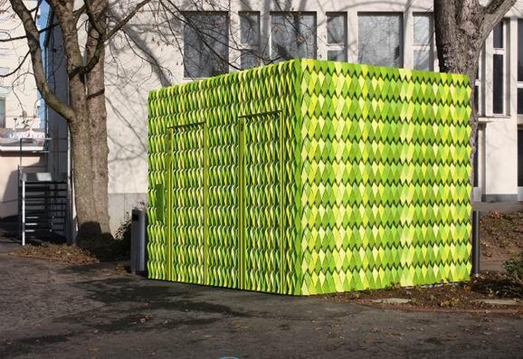 模仿爬蟲類鱗片的瑞士公廁